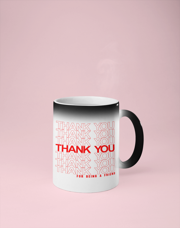 Thank You for Being a Friend - Golden Girls Color Changing Mug - Reveals Secret Message w/ Hot Water