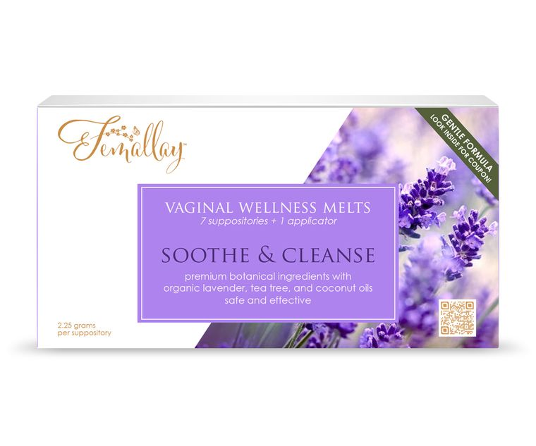 Organic Lavender Tea Tree Soothe & Cleanse Vaginal Wellness Suppository Melts, with 100% Pure Essential Oils and other Natural Ingredients