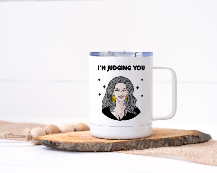 I'm Judging You - Michelle Visage Stainless Steel Travel Mug - RuPaul's Drag Race