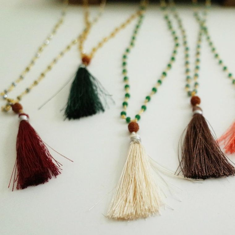 Beaded chain with Tassel
