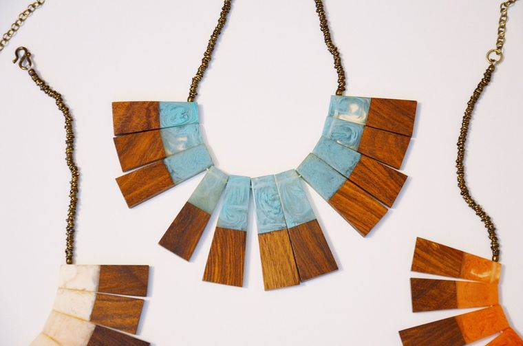 Wood and Resin Necklace