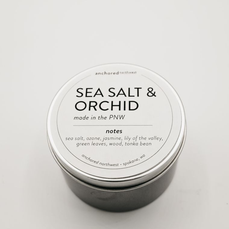 Sea Salt & Orchid - Travel Tin Soy Candle