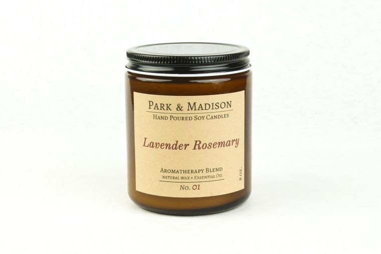 Lavender Rosemary Soy Candle (8 oz.)