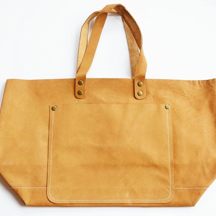 Classic Naked Leather Tote