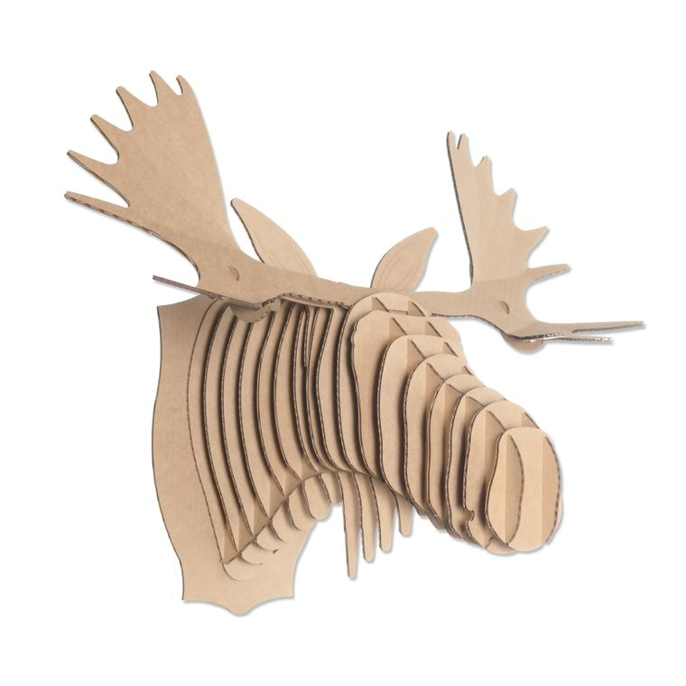 Fred the Cardboard Moose Head