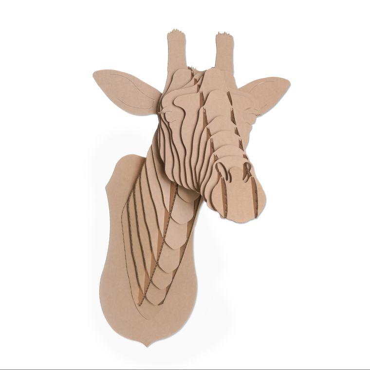 Juliette The Cardboard Giraffe Head