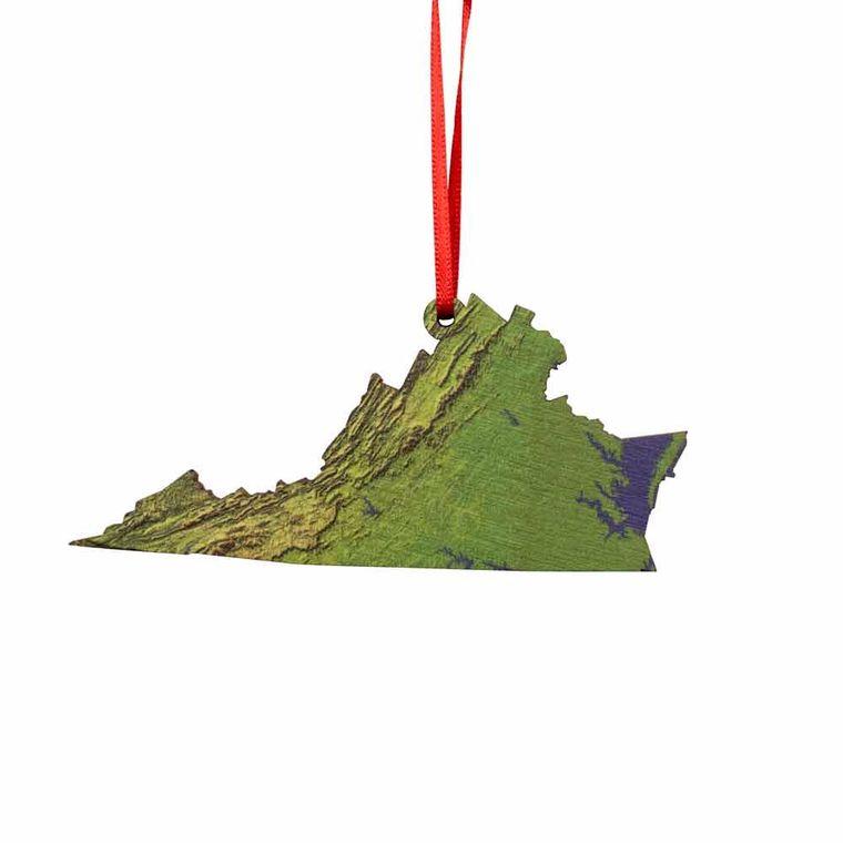 State Hillshade Ornament