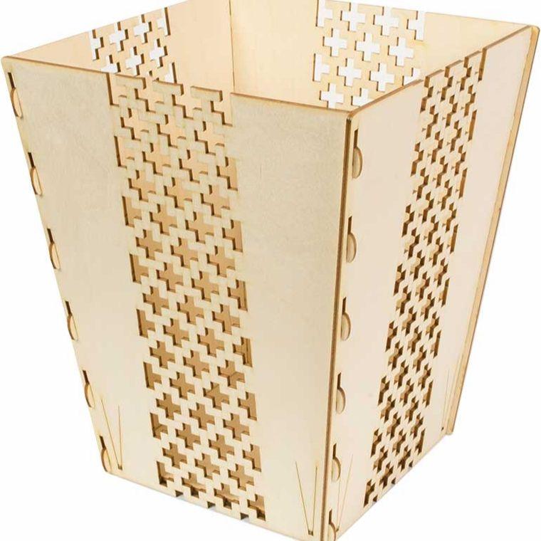 Wooden Waste Basket