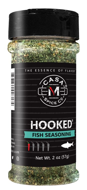 Casa M Spice Co® Hooked® Fish Seasoning (Plastic Shaker)
