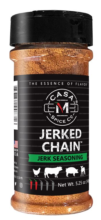Casa M Spice Co® Jerked Chain® Jerk Seasoning (Plastic Shaker)