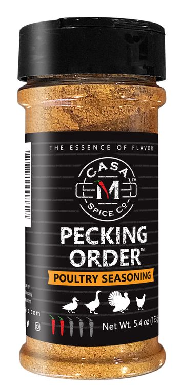 Casa M Spice Co® Pecking Order® Poultry Seasoning (Plastic Shaker)