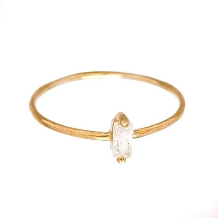Gold Crystal Ring (3 Sizes)