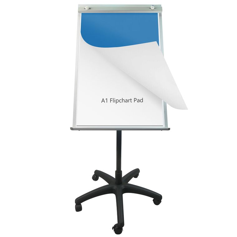 Magnetic Mobile Easel Whiteboard/Dry Erase Board Easel on Wheels/Flip Chart Easel/Adjustable Height/