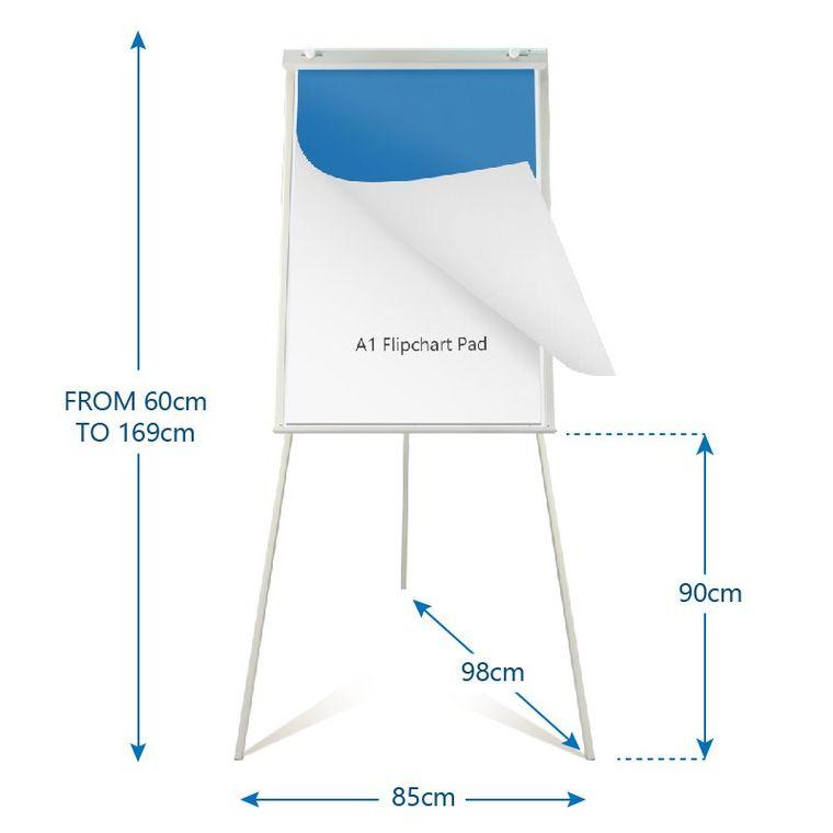 Portable Magnetic Tripod Easel Whiteboard/Dry Erase Board Flipchart Easel