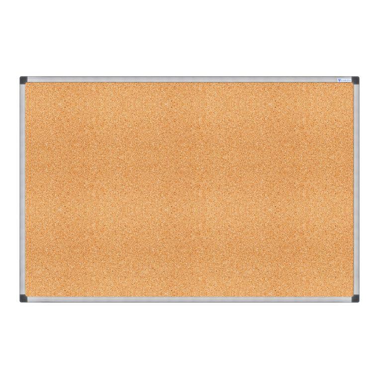 Cork Board Memo Cork Notice Board, Framed Bulletin Board, Silver Aluminum Frame V VAB-PRO