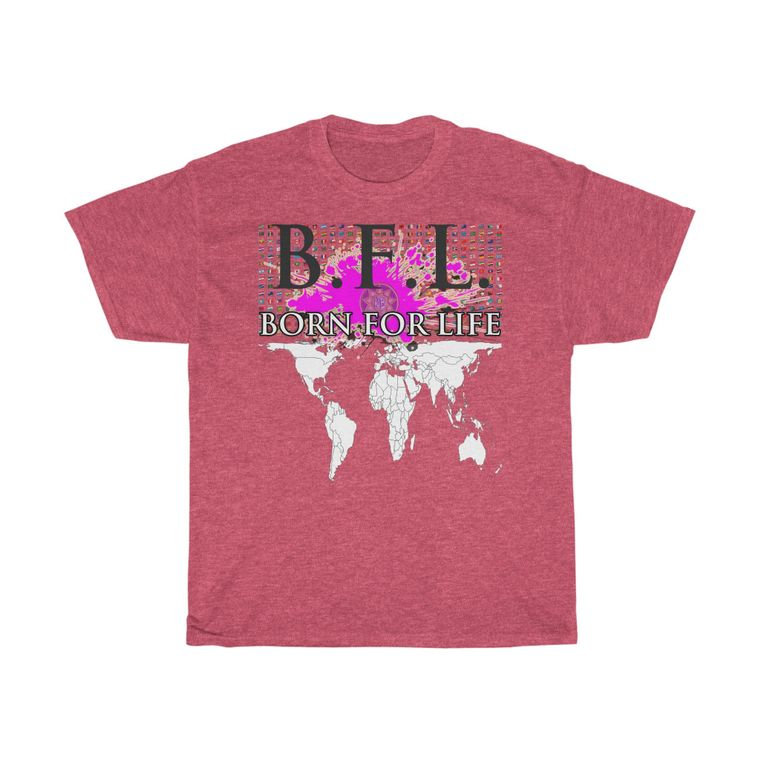 B.F.L. BORN FOR LIFE Unisex Heavy Cotton Tee