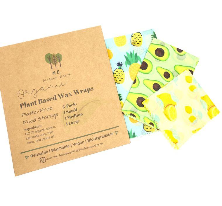 Vegan Wax Food Wraps 3-pack
