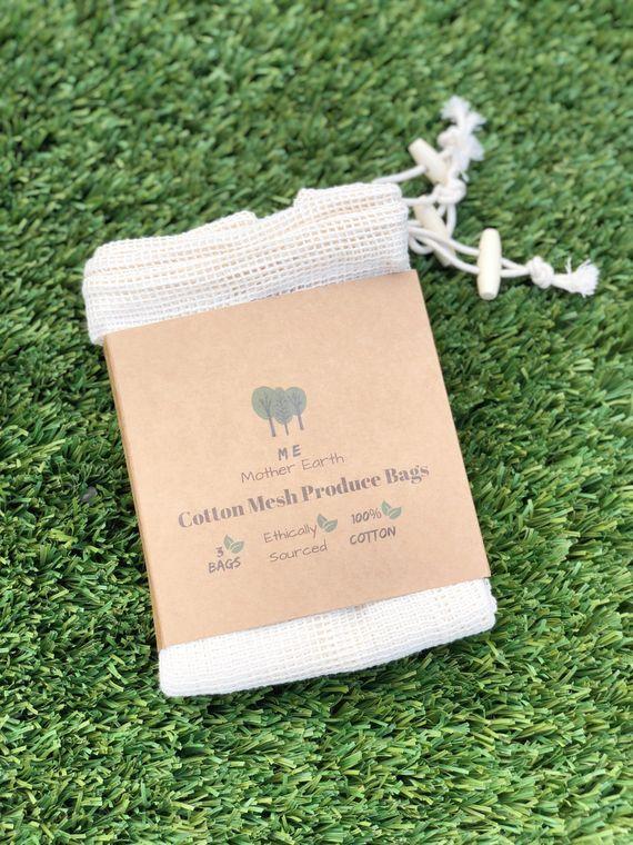 Reusable Cotton Produce Bags- 3PK