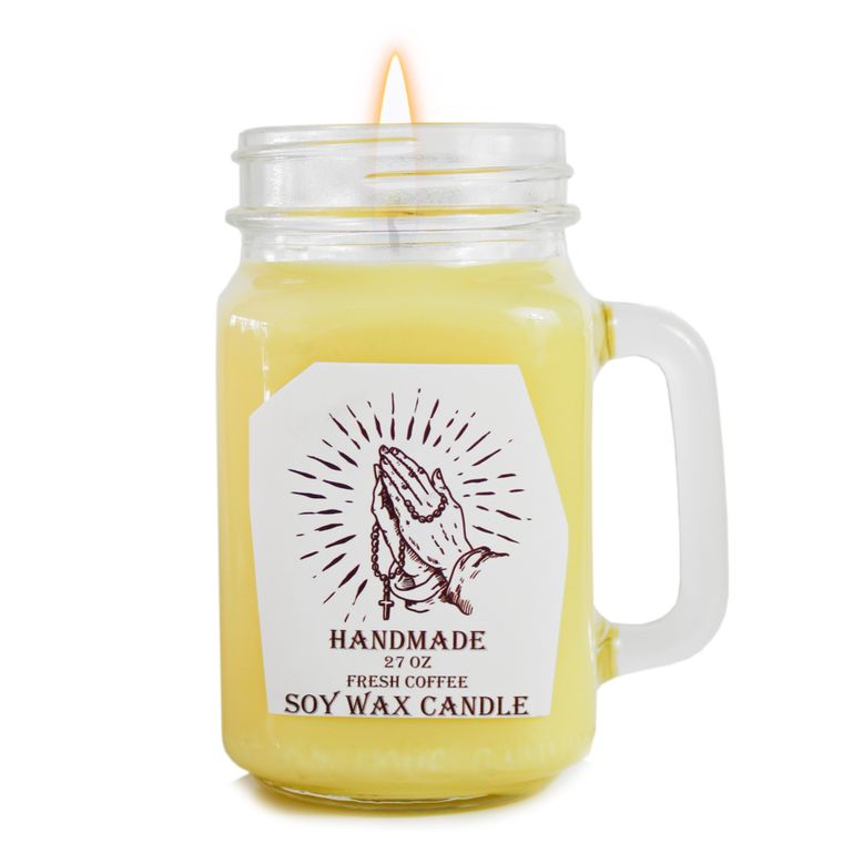 Fresh coffee scented designed Religious Prayer Candle