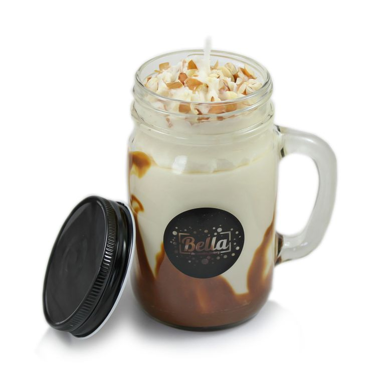 THE SENSATION Coffee Scented Handle Jar Candle