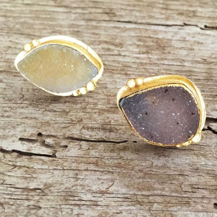 Large Druzy Cocktail Ring