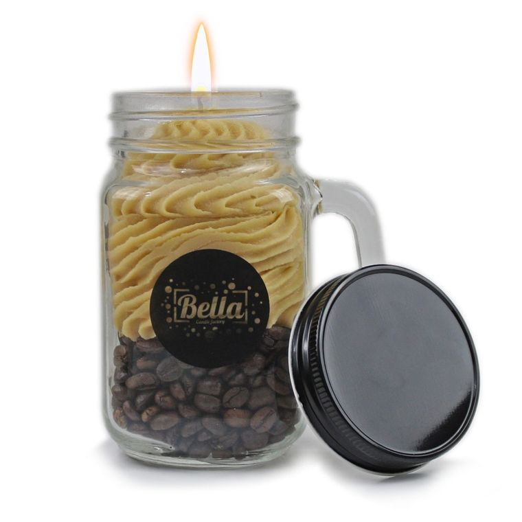 OH YAY! Coffee Scented Handle Jar Candle