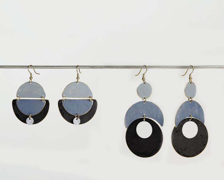 Patina Earrings - Grey Collection