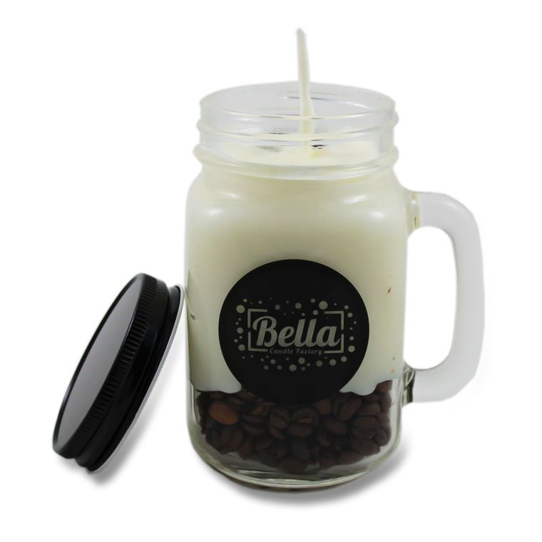 Coffee King Coffee Scented Handle Jar Candle