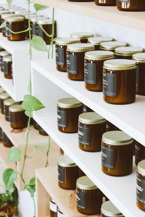 Amber Jar Soy Candle - Seaside / Citrus