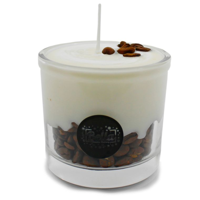 Coffee Falls Soy Candle with Coffee Beans - Cappuccino Espresso