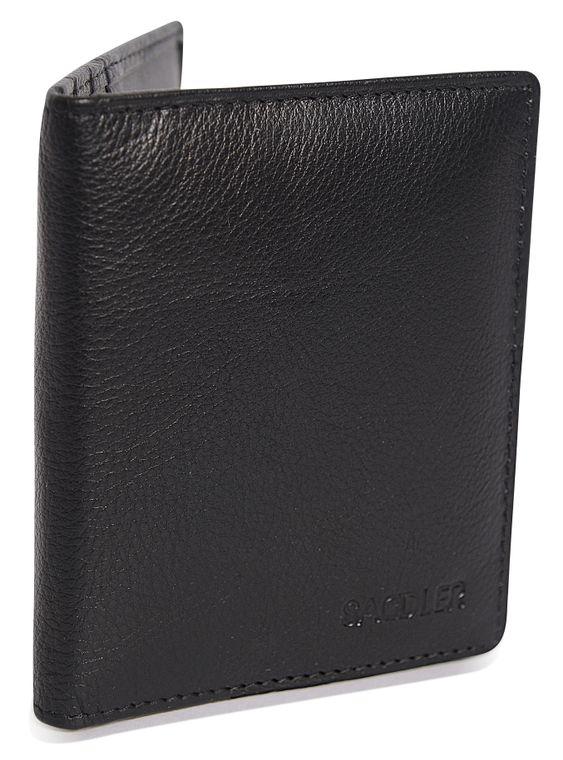 SADDLER Soft Nappa Leather 6 Credit Card Bifold Wallet - Black