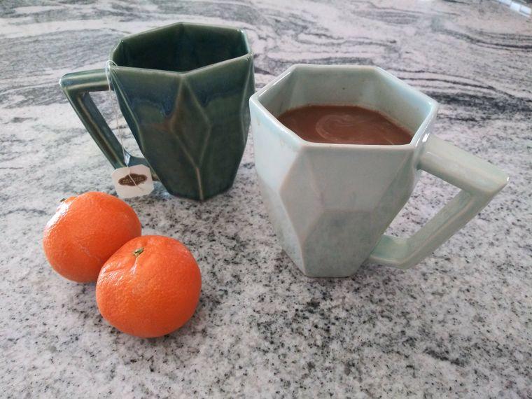 Geometric Mug - deep blue