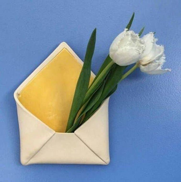 Envelope Wall Pocket - Purple