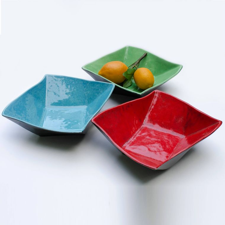 Twisty Ceramic Serving Bowl - Purple