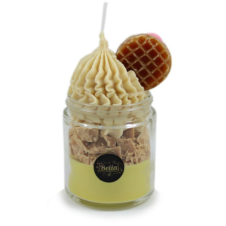 The Happy Waffle Soy Dessert Jar Candle - Coconut Caramel