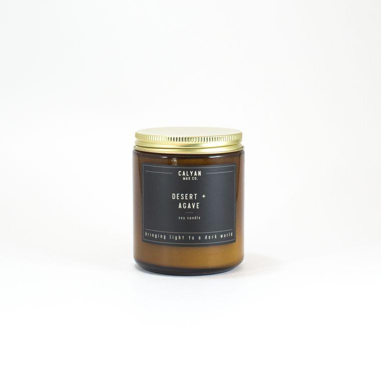 Amber Jar Soy Candle - Desert/Agave