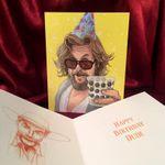 The Dude BIG LEBOWSKI Birthday Card
