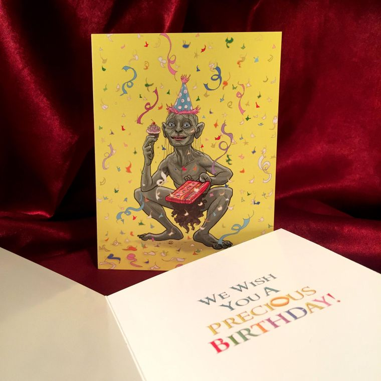 Gollum LORD of the RINGS Birthday Card