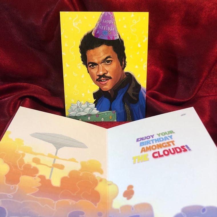 Lando Calrissian STAR WARS Birthday Card