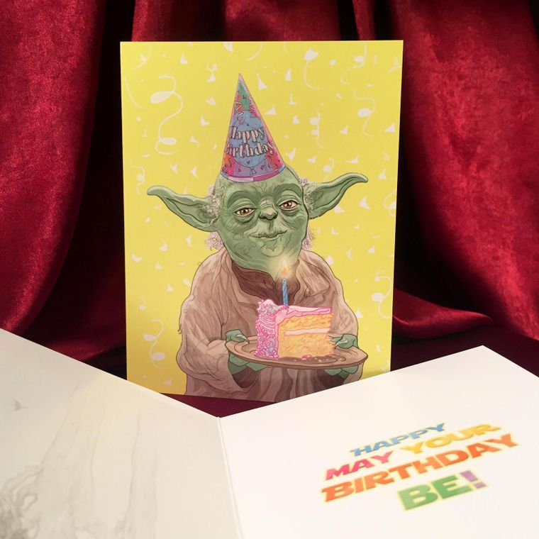Yoda STAR WARS Birthday Card