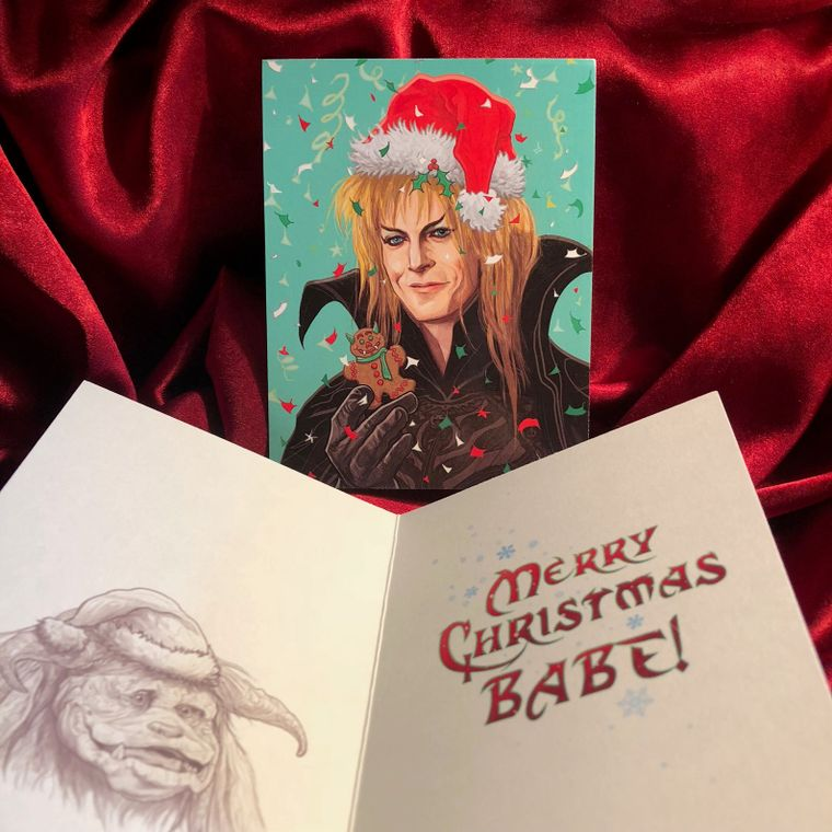 Jareth LABYRINTH Christmas Card