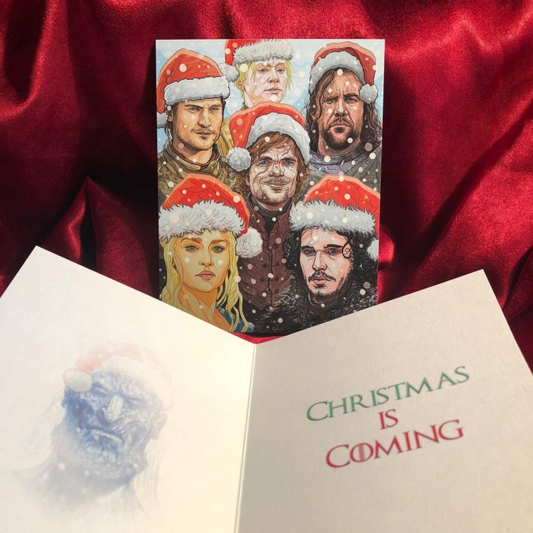 GAME of THRONES White Walker Christmas Card