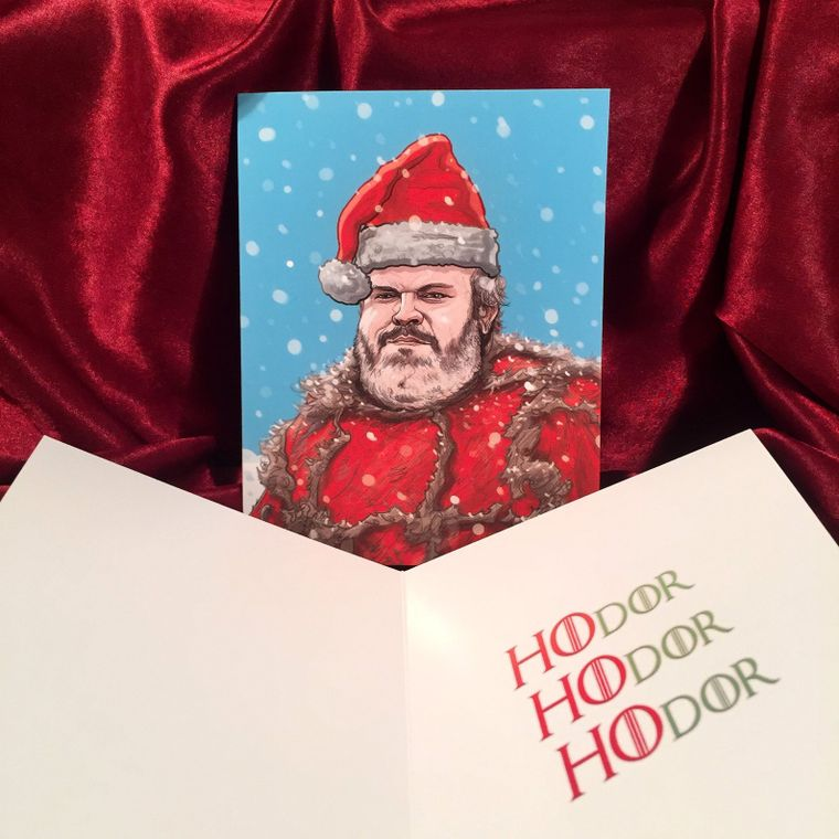 Hodor GAME of THRONES Christmas Card