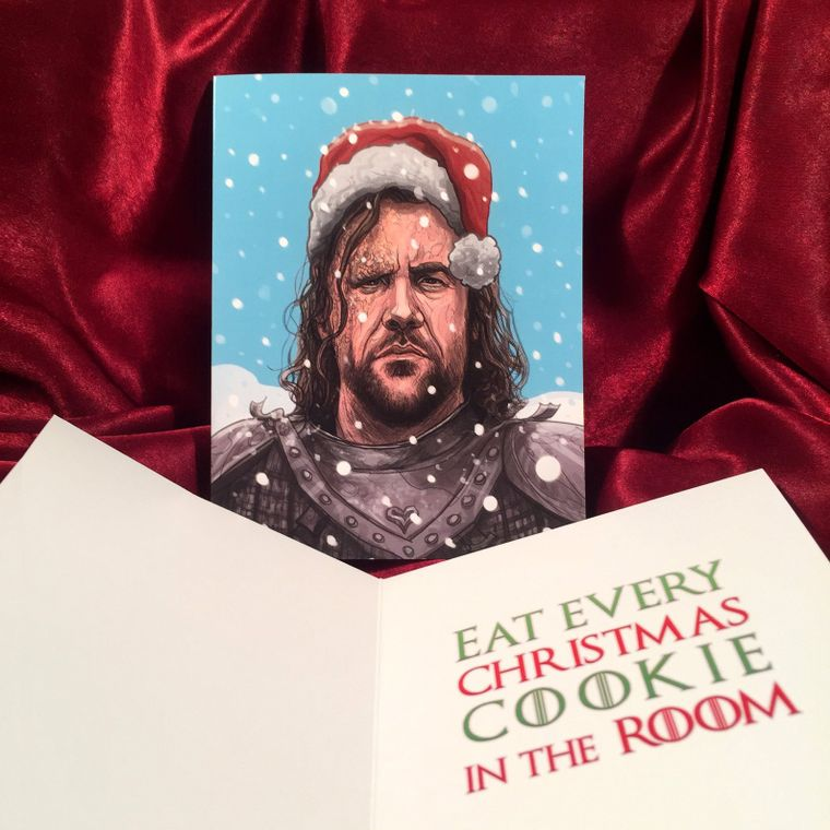The Hound GAME of THRONES Christmas Card