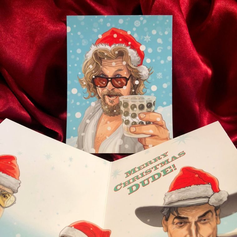 The Dude BIG LEBOWSKI Christmas Card