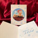 Picard STAR TREK Christmas Card