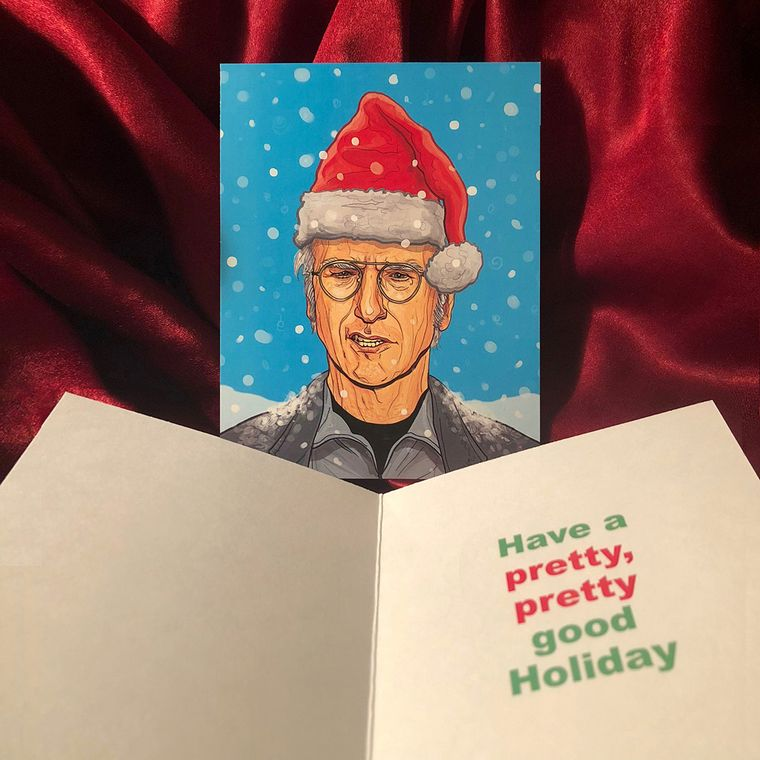 Larry David CURB YOUR ENTHUSIASM Christmas Card