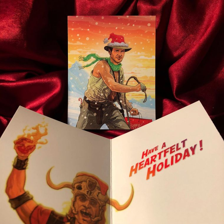 INDIANA JONES Christmas Card