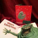 Slimer GHOSTBUSTERS Christmas Card