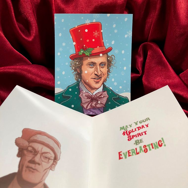 WILLY WONKA Christmas Card